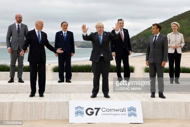 President of the European Council Charles Michel, US President Joe Biden, Japan's Prime Minister Yoshihide Suga, Britain's Prime Minister Boris...