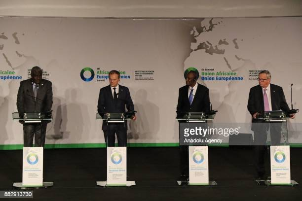 President of the European Council Donald Tusk European Commission President JeanClaude Juncker Chairperson of the African Union Commission HE Moussa...