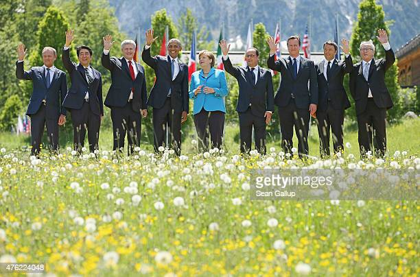 President of the European Council Donald Tusk Japanese Prime Minister Shinzo Abe Canada's Prime Minister Stephen Harper US President Barack Obama...