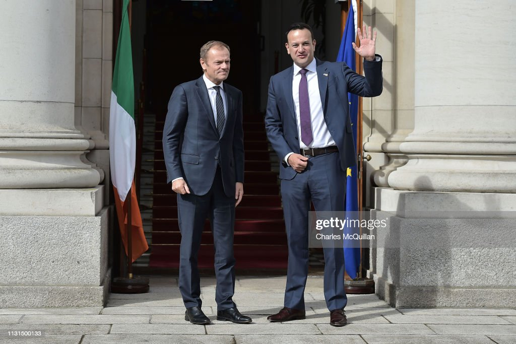IRL: EU Commission President Donald Tusk Meets Ireland's Taoiseach Leo Varadkar