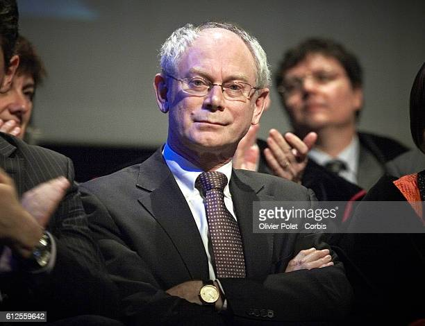President of the European Council Herman Van Rompuy before he receives the 'Doctorat honoris causa' award | Location LouvainlaNeuve Belgium