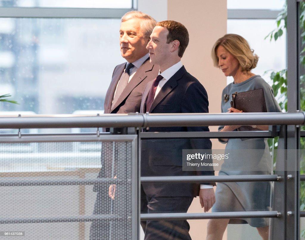 Facebook Chief Executive Officer Mark Zuckerberg Visits EU Parliament