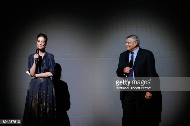President of the Event Angelique Motte and President of AROP JeanLouis Beffa present the 32th 'Reve d'Enfants' Charity Gala at Opera Bastille on...