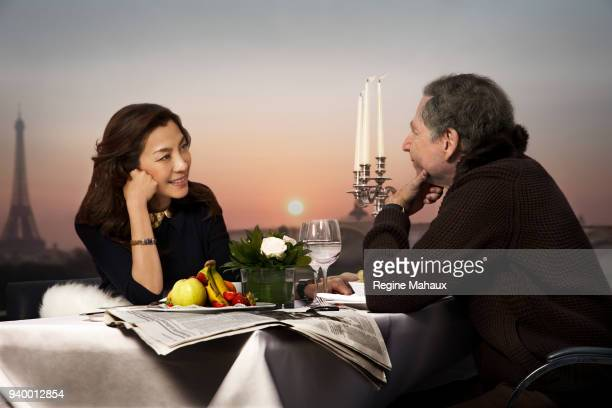 President of the Federation Internationale de l'Automobile Jean Todt and his wife Michelle Yeoh are photographed for InStyle Magazine on November...