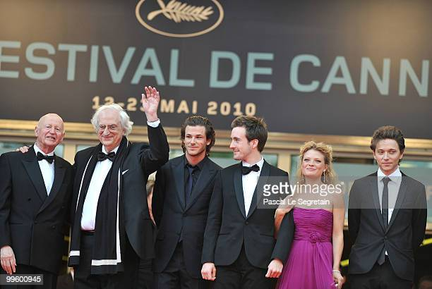 President of the festival Gilles Jacob with director Bertrand Tavernier actors Gaspard UllielGregoire LeprinceRinguet and actress Melanie Thierry...