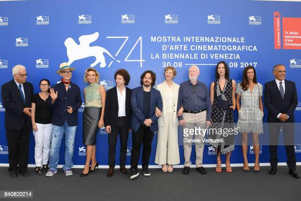 President of the festival Paolo Baratta 'Venezia 74' jury members Ildiko Enyedi Yonfan Jasmine Trinca Michel Franco Edgar Wright president Annette...