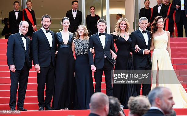 President of the festival Pierre Lescure actors Dominic West Caitriona Balfe producer Jodie Foster actors Jack O'Connell Julia Roberts and George...