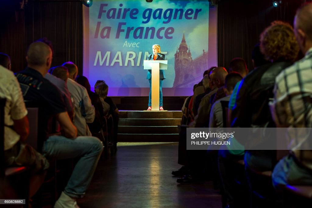 FRANCE2017-VOTE-LEGISLATIVE-PARTY-FN : News Photo