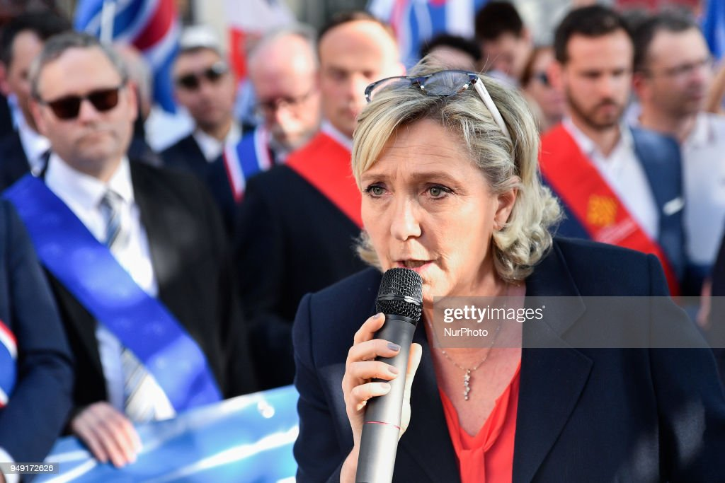 FN Rally Against The French Government's Immigration Policies