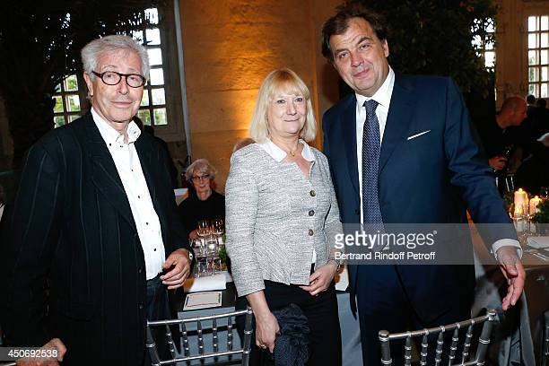 President of the French Federation of couture and readytowear Didier Grumbach Miss JeanMichel Wilmotte and Alexandre Vilgrain attend the private tour...