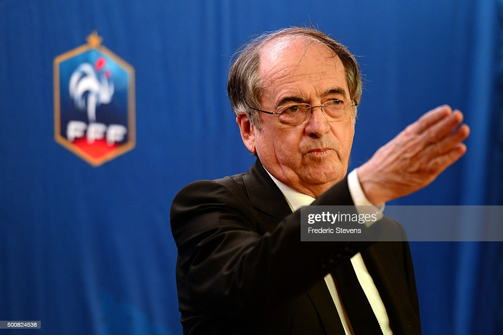 Head Of French Football Federation (FFF) Noel Le Graet Gives A Press Conference In Paris : News Photo