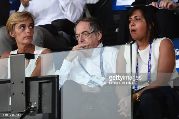 President of the French Football federation Noel Le Graet attends the Group C match of the U21 European Football Championships between France and...
