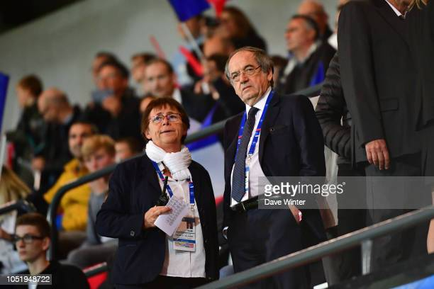 President of the French Football Federation Noel Le Graet during the international friendly match between France and Iceland on October 11 2018 in...