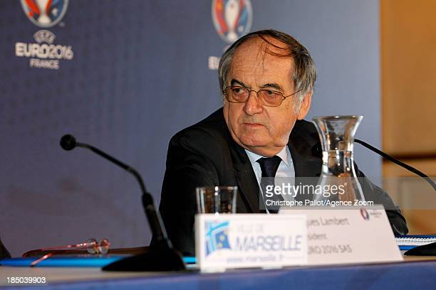 President of the French Football Federation Noel le Graet during the EURO 2016 Steering Committee Meeting on October 17 2013 in Marseille France