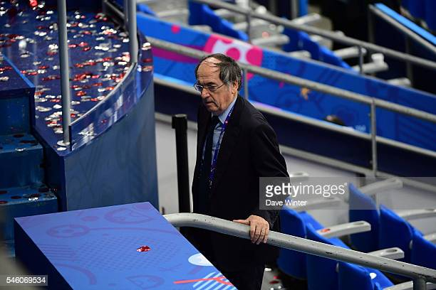 President of the French Football Federation Noel Le Graet following the European Championship Final between Portugal and France at Stade de France on...