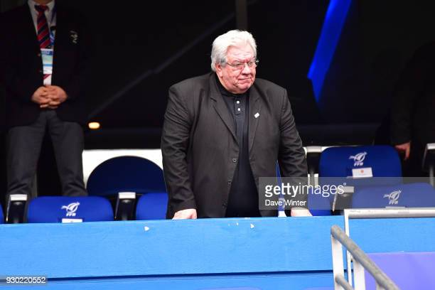 President of the French league Paul Goze during the RBS Six Nations match between France and England at Stade de France on March 10 2018 in Paris...