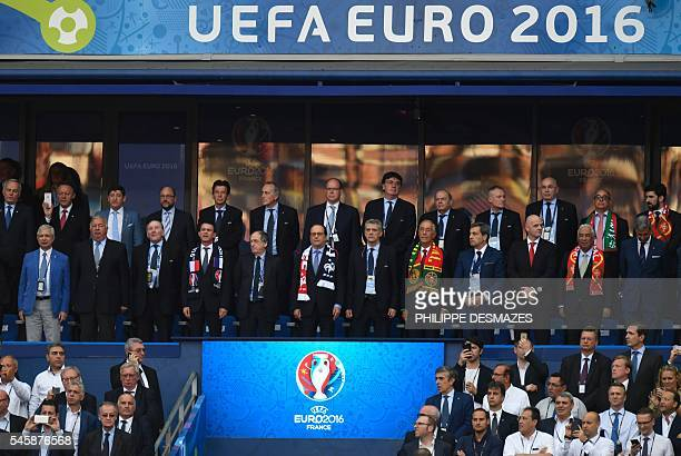 President of the French National Assembly Claude Bartolone, President of the French Senate Gerard Larcher, Euro 2016 organising committee president...