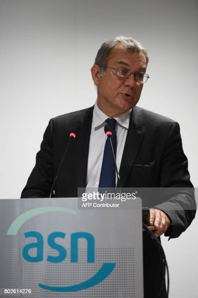 President of the French Nuclear Safety Authority , Pierre-Franck Chevet speaks during a press conference on the Flamanville nuclear power plant, on...