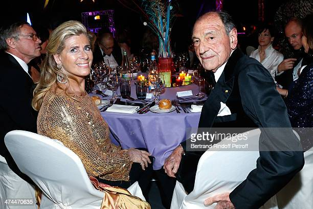 President of the Gala Princess Lea of Belgium and Ambassador Zahedi Ardeshir attend 'La Nuit des Neiges' Charity Gala Held at Congress Centre 'le...