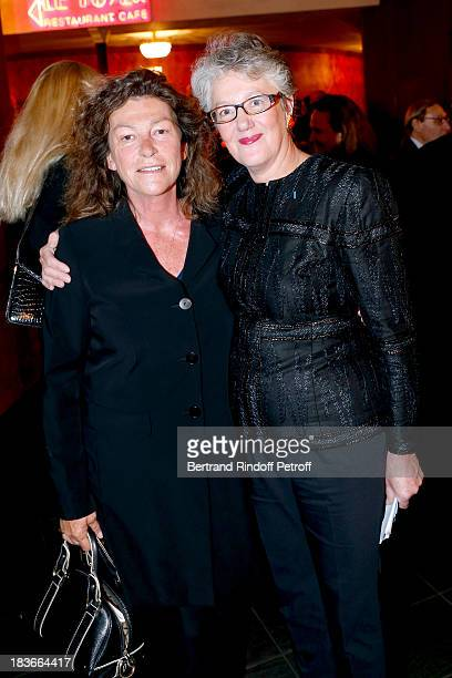President of the Gala the Lady of the Sea Florence Arthaud and Martine Szapek attending 'La Dame De La Mer' Gala play to benefit Care Humanitarian...