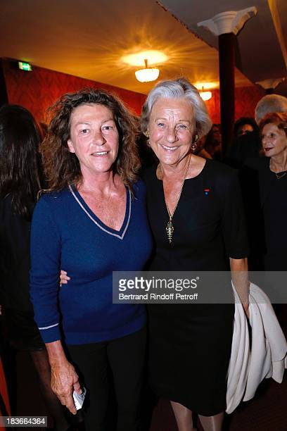 President of the Gala the Lady of the Sea Florence Arthaud and Honorary President of Care France Countess Marina de Brantes after 'La Dame De La Mer'...