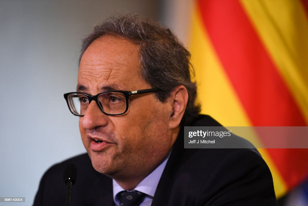 Catalan President Holds Press Conference With Clara Ponsati