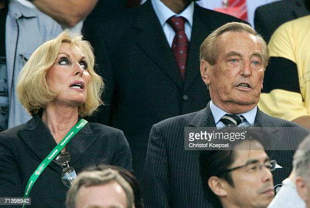 President of the German Football Federation Gerhard MayerVorfelder and his wife Margit before the FIFA World Cup Germany 2006 Third Place Playoff...
