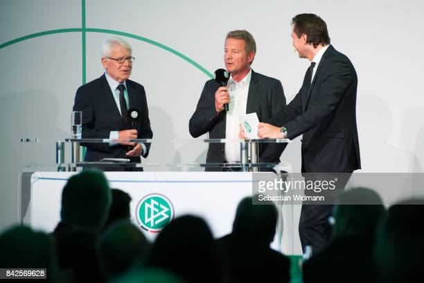 President of the German Football League Reinhard Rauball attends the Club 100 Awarding Ceremony at the Mercedes Benz Museum on September 4 2017 in...