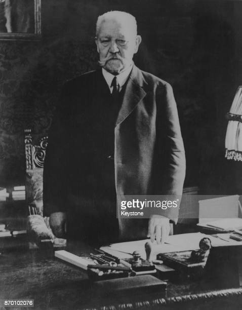 President of the German Reich Paul von Hindenburg the day before his 85th birthday 1st October 1932