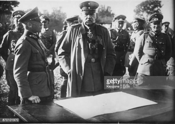 President of the German Reich Paul von Hindenburg with General Walther von Brauchitsch and General Kurt von HammersteinEquord during the autumn...
