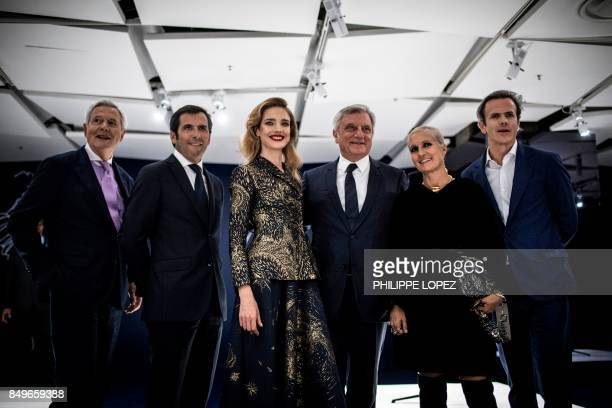 President of the Groupe Galeries Lafayette Philippe Houze Chief Executive Officer of Galeries Lafayette Nicolas Houze Russian model Natalia Vodianova...