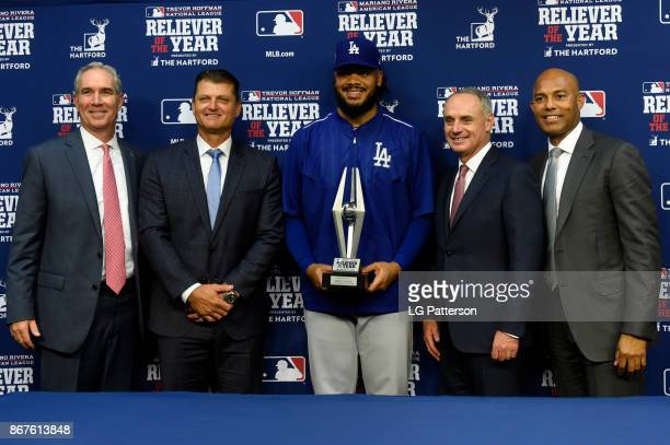 President of The Hartford Doug Elliot Trevor Hoffman 2017 National League Reliever of the Year Award winner Kenley Jansen of the Los Angeles Dodgers...