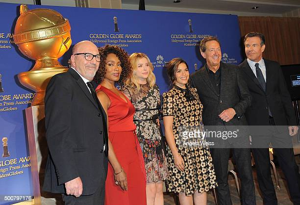 President of the Hollywood Foreign Press Association Lorenzo Soria actors Angela Bassett Chloe Grace Moretz America Ferrera EVP of Television for...