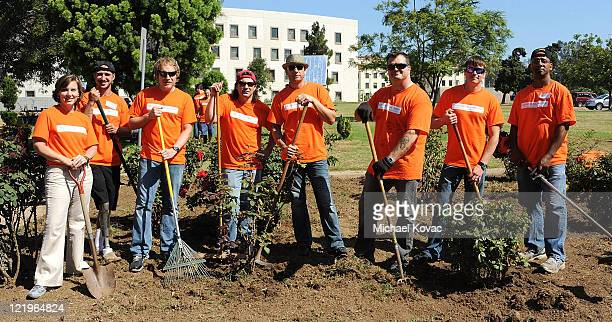 President of The Home Depot Foundation Kelly Caffarelli The Mission Continues Fellow Keith Deutsch members of multiplatinum rock band 3 Doors Down...