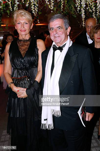 President of the Honorary Committee Miss JeanFrancois Theodore and her husband JeanFrancois Theodore attend AROP Gala at Opera Bastille with a...