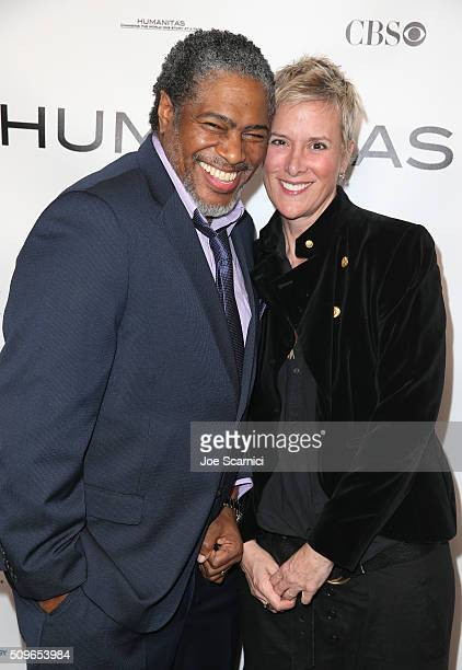 President of the Humanitas Awards Ali LeRoi and Screenwriter Liz Brixius attend the 41st Humanitas Prize Awards Ceremony at Directors Guild Of...