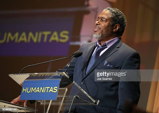 President of the Humanitas Awards Ali LeRoi speaks onstage during the 41st Humanitas Prize Awards Ceremony at Directors Guild Of America on February...