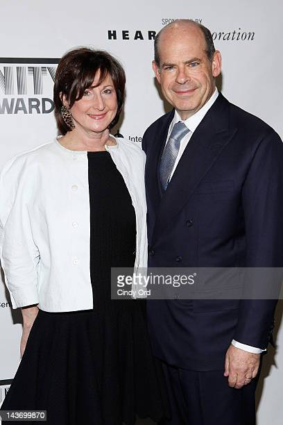 President of the ICP board Jeffrey Rosen and Marjorie Rosen attend the 28th annual International Center of Photography Infinity awards at Pier 60 on...
