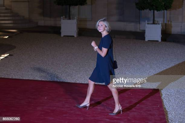 President of the Ile de France Region Valerie Pecresse attends a State dinner offered by French President Emmanuel Macron in honor with Lebanese...