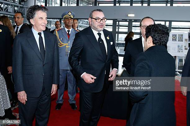 President of the 'Institut du Monde Arabe' Jack Lang King Mohammed VI of Morocco and French President Francois Hollande attend King Mohammed VI of...