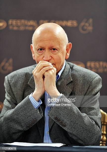 President of the International Cannes Film Festival Gilles Jacob attends the 64th Cannes Film Festival 2011 Program Selection Presentation at Le...