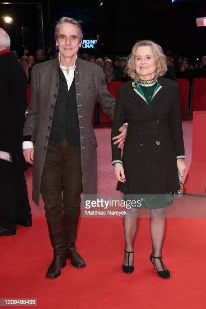 President of the International Jury Jeremy Irons and his wife Sinead Cusack arrive for the closing ceremony of the 70th Berlinale International Film...