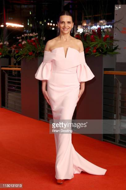 President of the International Jury Juliette Binoche arrives for the closing ceremony of the 69th Berlinale International Film Festival Berlin at...