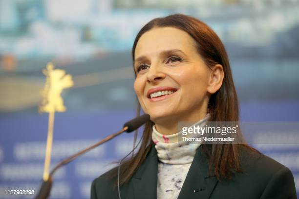 President of the International Jury Juliette Binoche attends the International Jury press conference during the 69th Berlinale International Film...