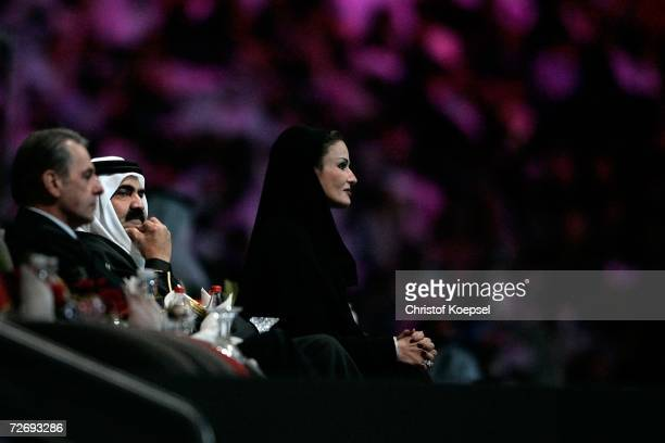 President of the International Olympic Committee Jacques Rogge His Highness Sheikh Hamad Bin Khalifa alThani the Emir of Qatar and Her Highness...