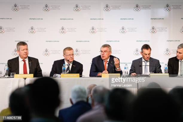President of the International Olympic Committee Thomas Bach speaks during the Australian Olympic Committee Annual General Meeting at the Foundation...