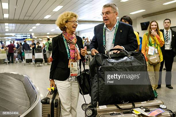 Tomas Bach President of the International Olympic Committee s on his arrival for Rio 2016 Olympic games at Antonio Carlos Jobim International Airport...