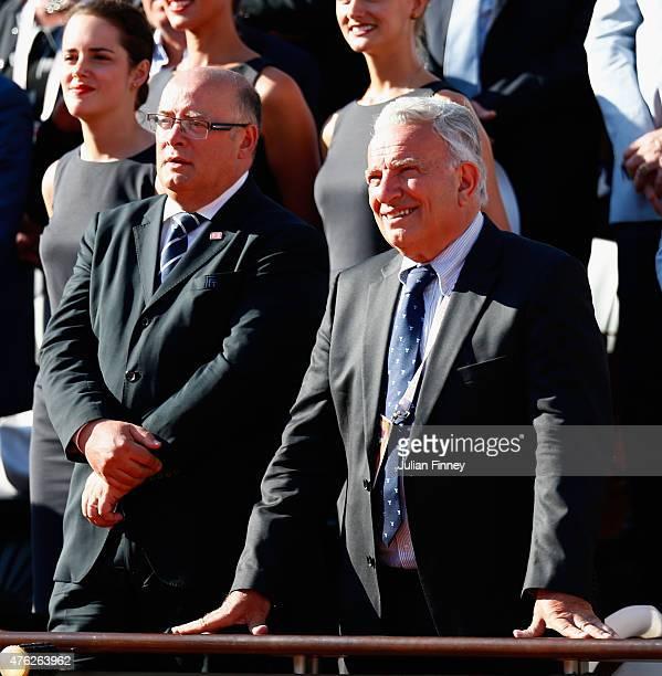 President of the International Tennis Federation Francesco Ricci Bitti attends the men's singles final match between Novak Djokovic of Serbia and...