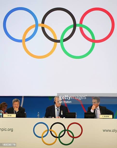 President of the IOC Jacques Rogge looks on during a World Baseball Softball Confederation presentation during the 125th IOC Session New Sport...