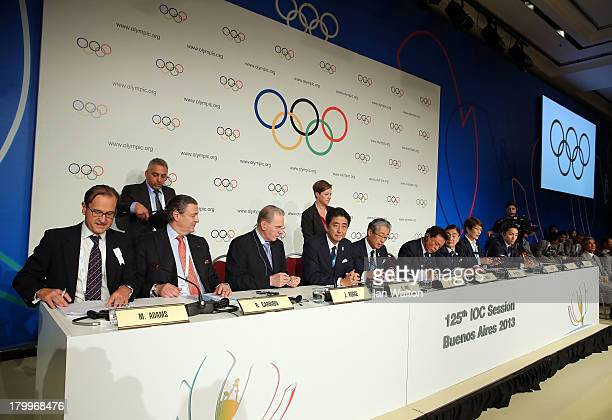 President of the IOC Jacques Rogge Prime Minister of Japan Shinzo Abe President of the Tokyo 2020 Committee Tsunekazu Takeda Governor of Tokyo Naoki...